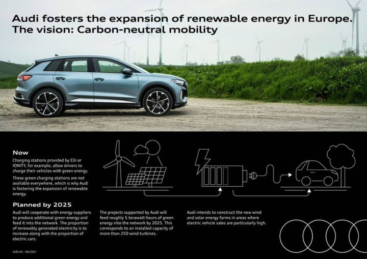 Audi's first project, a massive solar park in Mecklenburg-Vorpommern, will come on stream as early as 2022. - Photo: Audi