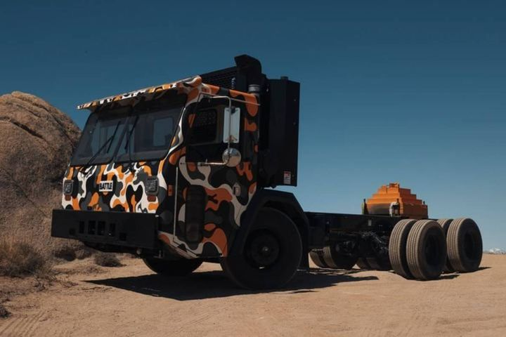 The Battle-Ready Electric delivers the same comfort, visibility and reliability as the CNG and diesel-powered trucks, but with lower maintenance costs, reduced noise and zero carbon emissions. - Photo: Battle Motors