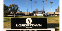 An Alpha prototype of the Lordstown Endurance all-electric pickup truck on display on Jan. 14, 2021 at the company's West Coast operations in Irvine, Calif.
