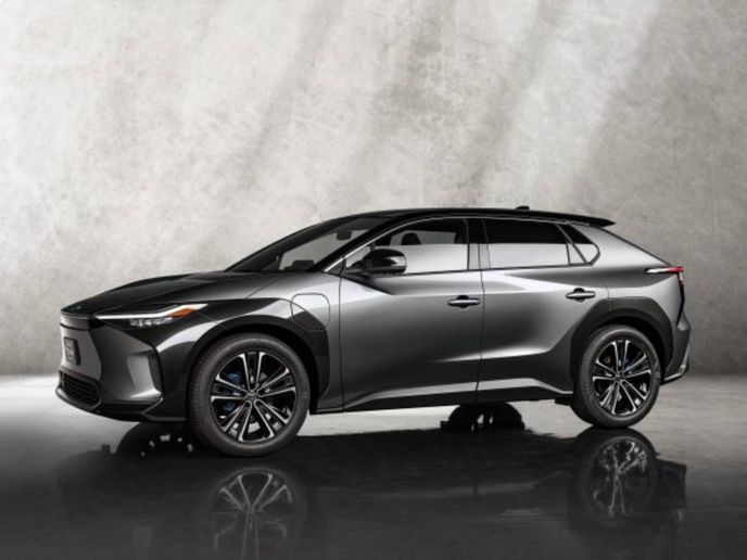 Jointly developed with Subaru, the Toyota bZ4X SUV Concept features the new e-TNGA BEV-dedicatedplatform. - Photo: Toyota