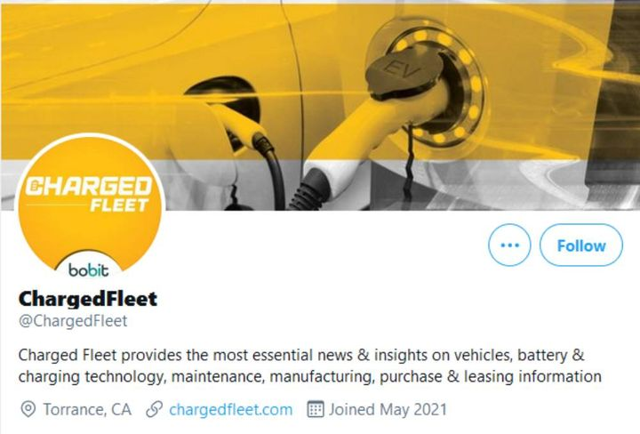 Check out Charged Fleet's new Twitterpage to find news and updates across the entire EV space. -