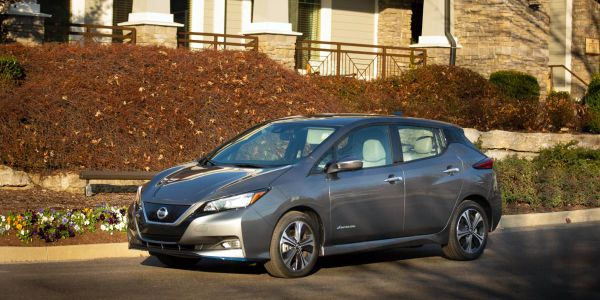 The LEAF is equipped with a 40 kWh lithium-ion battery and 110-kW electric motor that delivers...