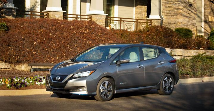 The LEAF is equipped with a 40 kWh lithium-ion battery and 110-kW electric motor that delivers 147 horsepower, 236 lb-ft of torque and up to 149 miles of range. - Photo: Nissan