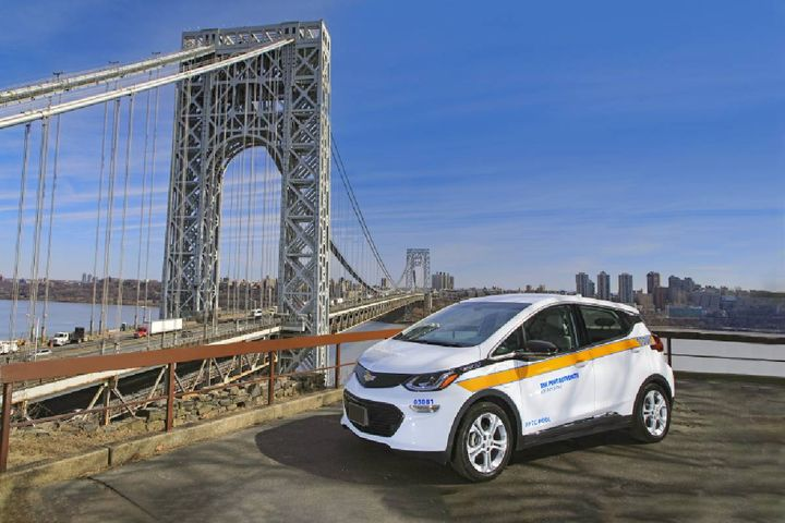 In an abundance of caution, GM recommends Chevrolet Bolt EV owners leave ample space around their vehicle wherever they choose to park. GM is not aware of any fires that have occurred where customers followed this safety guidance, in parking decks or otherwise. - File photo: Port Authority of New York and New Jersey