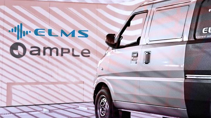 ELMS and Ample plan to offer customer test drives and battery swapping demonstrations in San Francisco using the Urban Delivery Class 1 EV in Q4 of this year. - Photo: ELMS