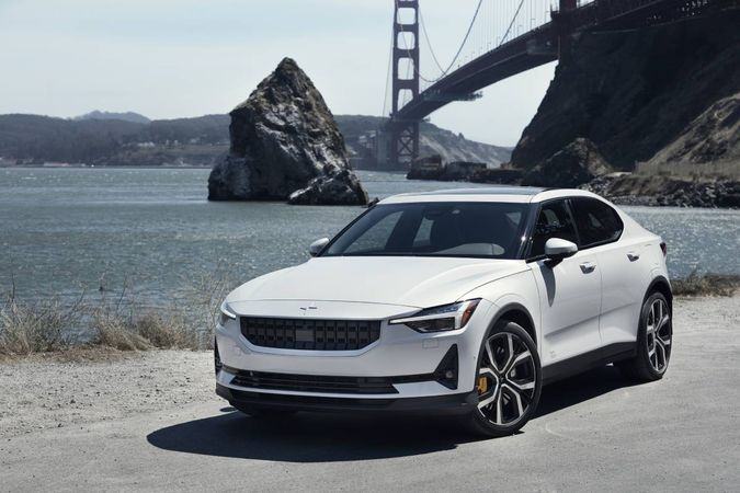 The Polestar 2 features a long list of all-inclusive standard and luxury amenities. Range: 233...