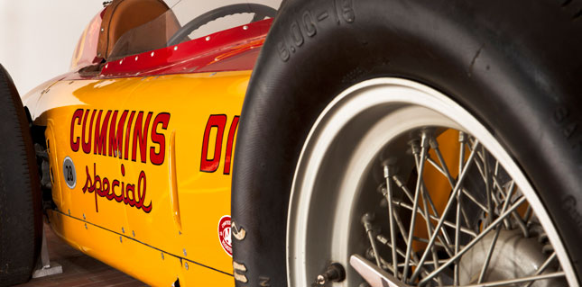 The historic 1952 Indy car on display in honor of Indy's 100th birthday.