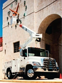 Southern Electric Corp. of Mississippi has taken advantage of the Hino model 338's versatility by using the truck in a variety of configurations, including a bucket lift utility truck