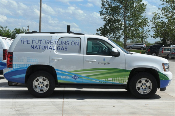 One of Chesapeake's natural-gas fueled fleet vehicles.