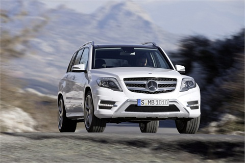 The 2013 GLK comes in three models, the gasoline-fueled GLK350, the GLK350 4MATIC, and the diesel-fueled GLK250 BlueTEC 4MATIC.