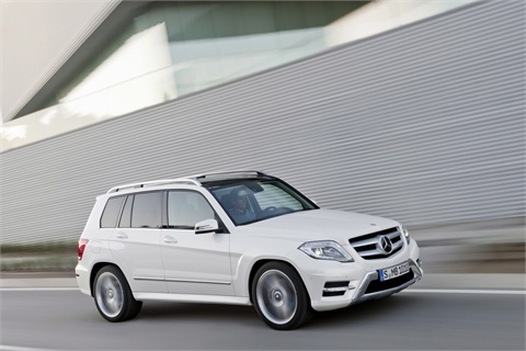 The 2013-MY Mercedes-Benz GLK.