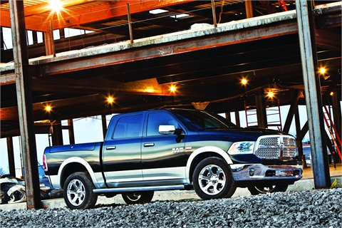 Advanced high-strength steel (AHSS) contributed to a 30-lb. weight reduction of the frame in the 2013 model Ram 1500.