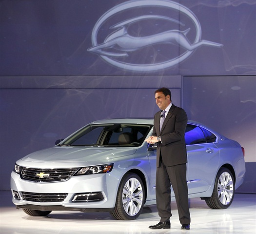 GM's Mark Reuss at the Impala unveiling.