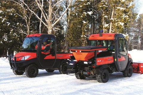 Kubota's utility vehicles have removable seats for access to typically hard-to-reach places during maintenance, a company representative said. Pictured is the Kubota RTV1100.