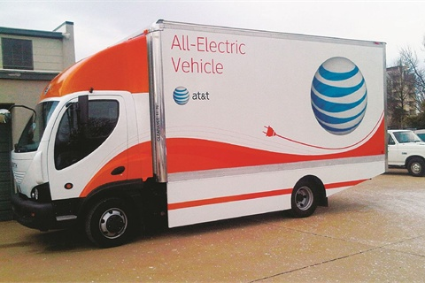 AT&T has made an investment of &565 million in clean vehicles since 2009. These vehicles include both passenger vehicles and commercial vehicles that fulfill a number of roles. The telecommunications giant has both electric vehicles (pictured) and compressed natural gas (CNG) vehicles as part of its alternative-fuel fleet of 4,000 vehicles. The company operates a fleet of 71,500 vehicles in total.