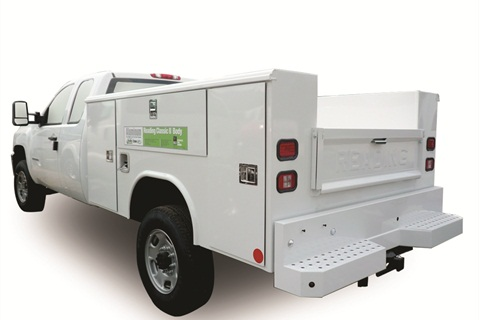Reading Truck Body's aluminum service body (when designed with an aluminum understructure) achieves about a 50-percent weight savings over a comparable steel body.