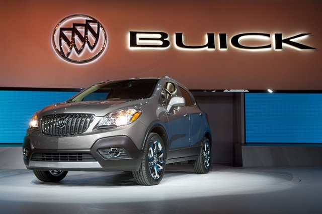 The new Buick Encore being revealed at the 2012 North American International Auto Show in Detroit.