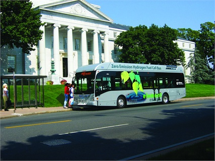 Connecticut Transit (CTTransit) acquired four of five hydrogen buses with federal grants.