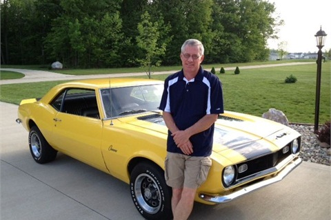 Campbell helped his son restore a 1968 Caramo when his son was in high school.