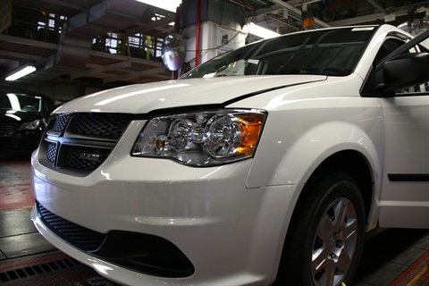 The 2012-MY Ram Cargo van coming off the assembly line at Chrysler's Windsor, Canada, plant.