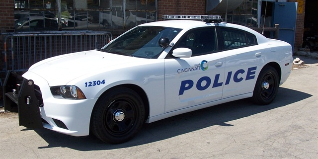One of the Cincinnati Police Department's 10 new Dodge Chargers used for testing. Photo courtesy of Cincinnati PD.