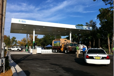 The CNG fueling station will be used by the City and Clearwater Gas System, and will be open to the public in December.