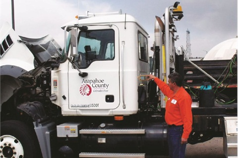 By training operations to use an electronic device for pre- and post-trip inspection, the Arapahoe County, Colo., fleet ensures vehicles are inspected properly and maintenance issues are addressed promptly.