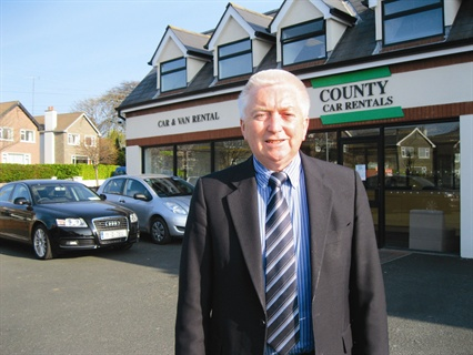 County Car Rentals' business consists of 65 percent tourism, 20 percent local and repeat and 15 percent replacement, says Bernard Loughran (pictured), the company's founder and managing director. The company generates most of its business on the Web, through its own Web site, wholesale booking channels and as an affiliate of ACE Rent A Car.