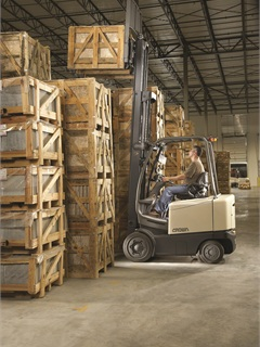 Crown said customers need to spec forklifts based on the facility where they will be used. The Crown FC 4500 Series sit-down rider electric lift truck features three selectable performance levels for different needs.