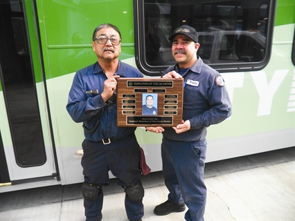 Culver City, Calif., has Employee of the Year and Employee of the Quarter programs for its staff. Employees of the Quarter have their photos displayed on a plaque, along with the names of each year's annual winners.