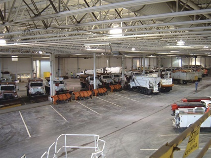 Kueny Architects worked on the planning and design of the City of Davenport, Iowa's Public Works fleet facility.