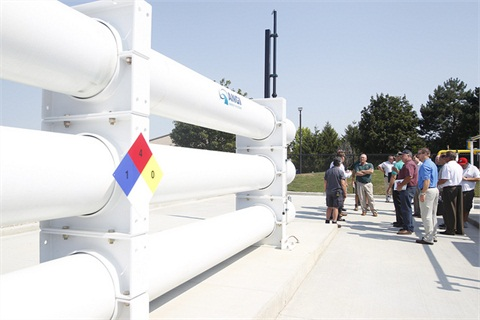 The City of Dublin celebrated the opening of its CNG fueling station on June 28, and 150 people attended the event. Photo courtesy of the City of Dublin.