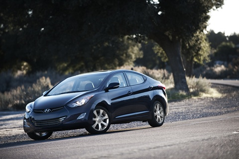 The 2011 Hyundai Elantra.