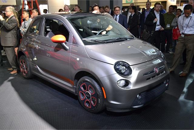 The Fiat 500e.