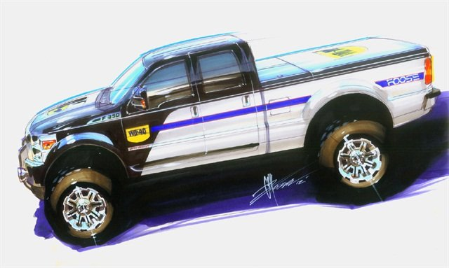 With custom body kit parts like new front and rear wheel flares, side rockers and a front chin spoiler, this massive Super Duty has Foose's signature style all over it. The work truck represents the new WD-40 Specialist line of products that help trade professionals get their specific jobs done right. (Photo: Business Wire)