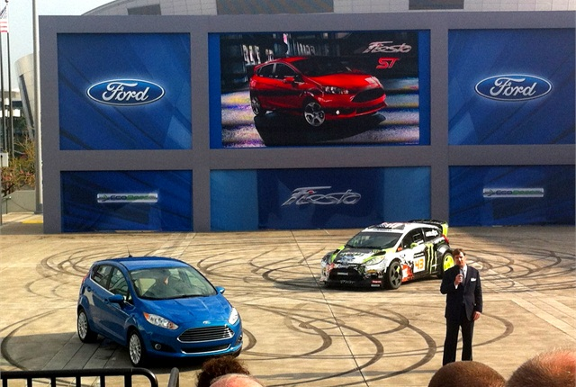 Ford showed its 2014-My Fiesta in a special presentation to the press at the LA Auto Show.Photo by Chris Brown