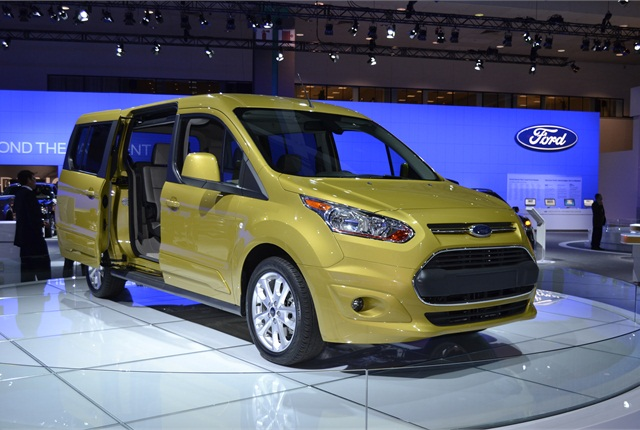 Ford showed its long wheelbase model of the Transit Connect Wagon at the LA Auto Show. Photo by Greg Basich.