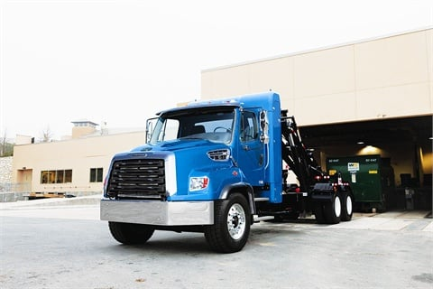 Designed for vocational applications, the factory-built 140SD SAB natural gas truck will include the Cummins-Westport ISLG 8.9L natural gas engine.