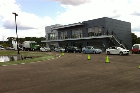 The private course at GE's Vehicle Innovation Center. Photo by Mike Antich.