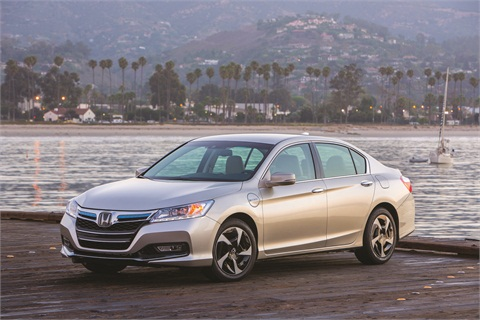 The 2014 Honda Accord Plug-in Hybrid offers the most fuel-efficient sedan with an EPA-estimated 115 MPGe and is the first production car in the U.S. to meet the new, more stringent LEV/SULEV20 emissions standard.