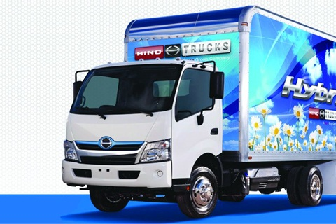 The Hino Class 5 COE model is ushering the company into the hybrid diesel-electric market. The model features a 210 hp 5.0L J05E Series engine.