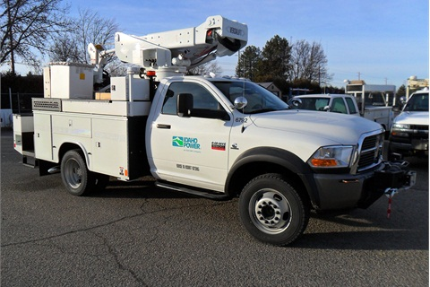 Idaho Power Company, one of the members of the Northwest Utility Fleet Managers Association, operates a fleet of 900 units that include this bucket truck.