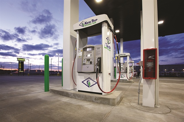 Kwik Trip, a Midwest convenience and fueling store chain, is in the midst of installing CNG pumps at its stores in Wisconsin, Minnesota and Iowa. Kwik Trip's goal is to have 20 retail CNG pumps installed at its Midwest convenience store locations by next spring.