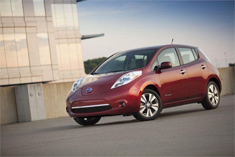 The all-electric 2014 Nissan LEAF's range on a full charge has increased from 73 to 84 miles over 2012, while its fuel economy has increased from a combined 99 MPGe to 114 MPGe this year.