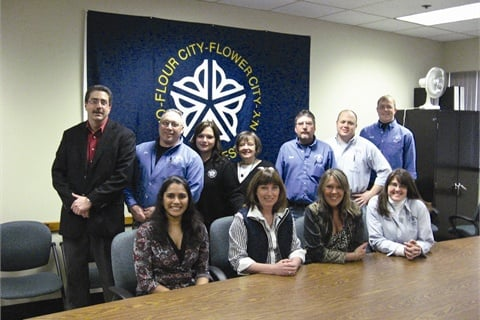 The Equipment Services team consists of: (standing left to right) Michael Quattrone, James Billitier, Jenelle Dunn, Marlene Davidson, Frank O'Hare, Gary  O'Donnell Jr., and Scott Corser, (sitting left to right) Lakshmi Kasturi Rangan, Lynne Kita, Lisa Smith, and Amanda Smith. Not pictured are Richard Haynes and John Pecora.