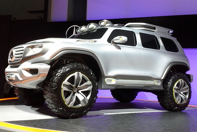 Mercedes showcased its Ener-G-Force concept car for the 2012 LA Auto Show Design Challenge.