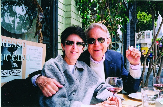 LaPlaca and his wife Bonnie enjoy one of their favorite San Francisco restaurants.