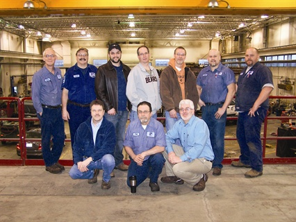 City of Moline, Ill., Fleet Manager J.D. Schulte (bottom right) empowers his employees to make decisions that impact their workload and environment. Their experience ranges from 10-30 years.