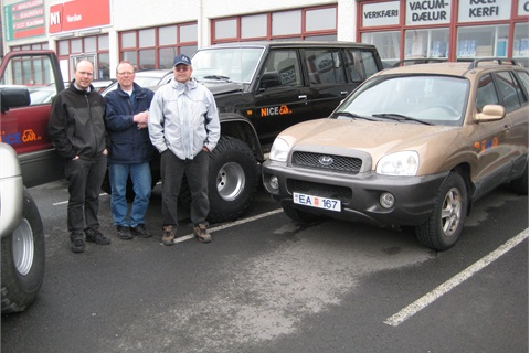 The owners of Nice Cars, from left to right: Tomas Haflidason, Sigurdur Palmason and Haflidi Saevaldsson.