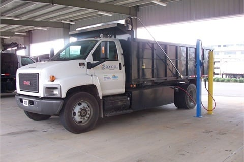 One of City of Rock Hill's compressed natural gas (CNG) GMC dump trucks.Photo courtesy City of Rock Hill